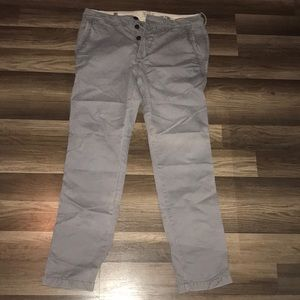 Gray button fly pants